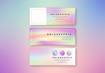 Holographic Social Media Banner Layouts