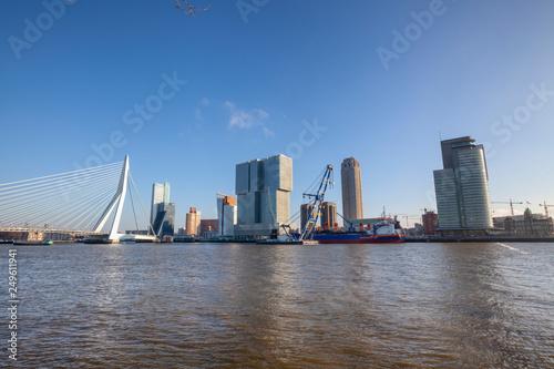 "modern rotterdam skyline panorama, the netherlands"" stock photo and"
