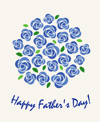 Illustration of Father's Day Roses