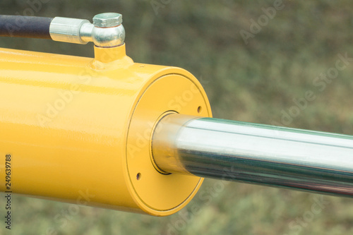 Detail of pneumatic or hydraulic machinery, part of piston