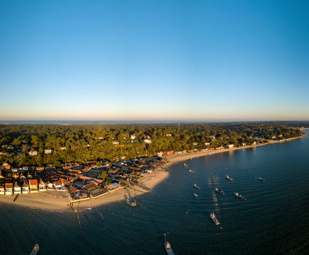 CAP FERRET, Arcachon Bay, France, the oyster village of Herbe