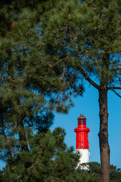 Lighthouse of Cap Ferret in Arcachon bay