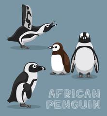 African Penguin Cartoon Vector Illustration