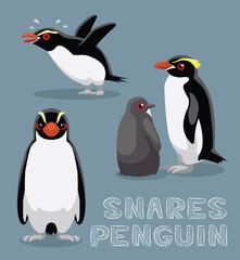 Snares Penguin Cartoon Vector Illustration