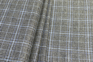 Multicolored wool fabric for shops and Internet sites