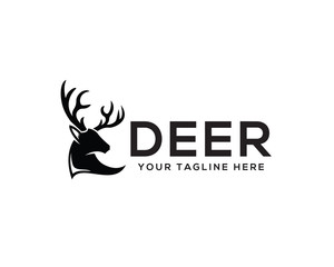Head deer logo design inspiration