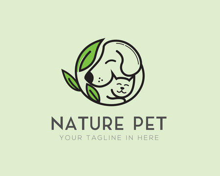 circle nature pet logo design inspiration