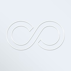 Infinity sign vector icon