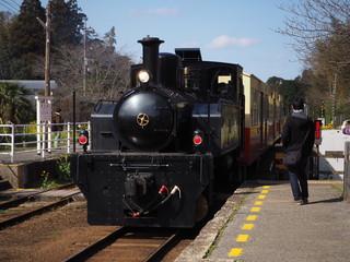 小湊鉄道にて蒸気機関車