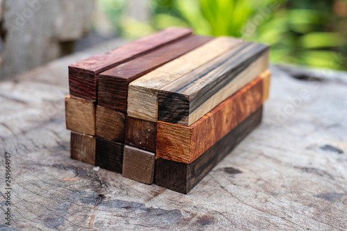 Set Exotic wood real for blanks pen