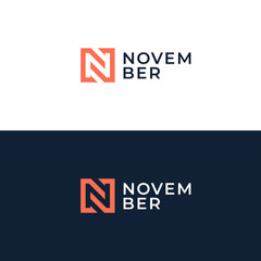 Abstract letter N logotype. Modern logo idea sign. Universal emblem vector icon.