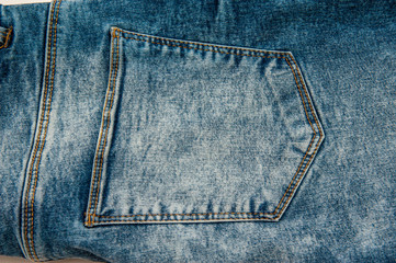Blue background, denim jeans background. Jeans texture, fabric