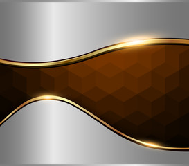Abstract background silver brown