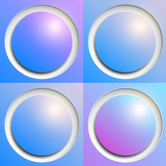 Shiny web buttons as abstract vector background