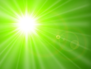 Green sunny background