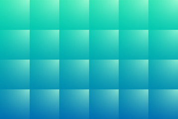 Blue abstract background with square pattern, 3D vector illustration.