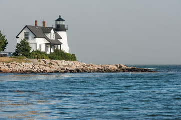 Prospect Harbor Point lighthouse in northern Maine, USA
