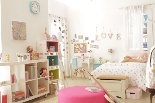 cute teen girl bedroom with decoration 3