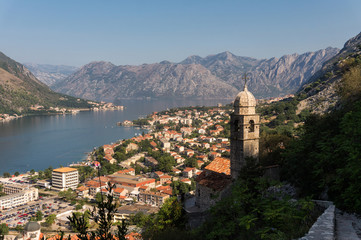 Church of Our Lady of Remedy and Bay of Kotor, Montenegro