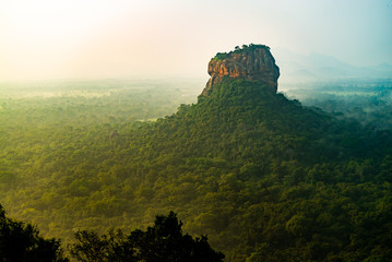 Sigiriya Lion Rock Mount sri lag dawn top view