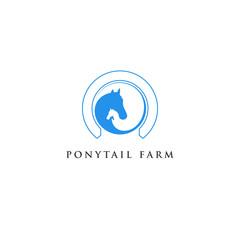 Horse Negative Space Logo.