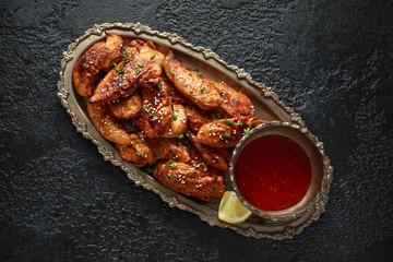 Teriyaki chicken breast mini fillets with sweat chilli dip sauce