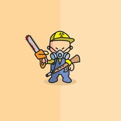 Survivor Logo Cartoon Characters Baby Face Color icon
