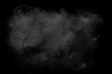 Abstract with dark grunge background watercolour on black background for paper design