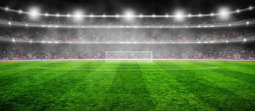 Stadium with the bright lights