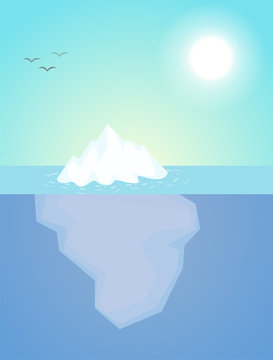 The iceberg that appeared just a little above the water The nature of the subconscious of people.