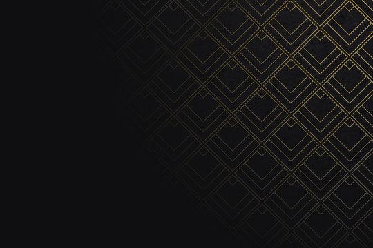 Art deco pattern background with diamond shape - Illustration
