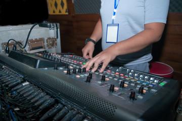 DJ, sound, control. Sing.
