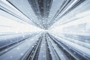 Fotomurales - Futuristic network
