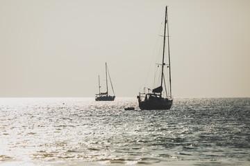 Luxury yacht Sailing on sea