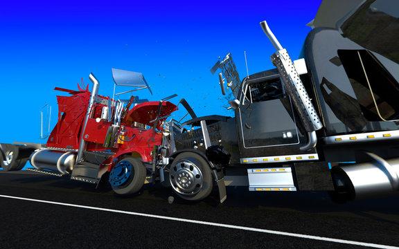 Failure of two trucks