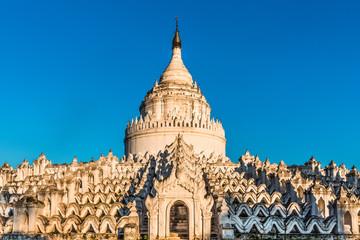 temple Mya Thein Tan pagoda of Min Kun or Mingun  near Mandalay and sagaing  Myanmar (Burma)