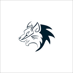 Wolf Simple Logo Design