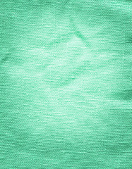 Turquoise color cotton fabric background
