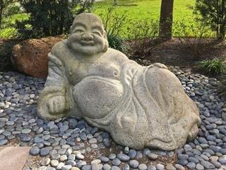 Hotei statue in Japanese Garden
