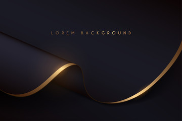 black and gold cloth background