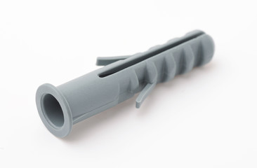 Grey plastic expansion wall plug