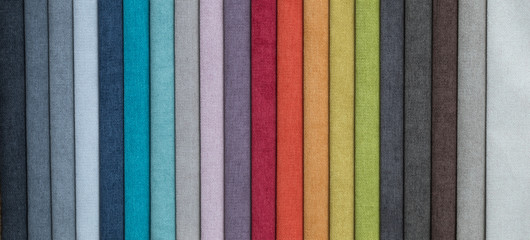 set of colored furniture fabrics