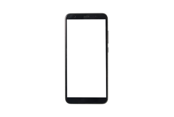 mock up mobile phone isolated on white background. Mockup top view. white screen