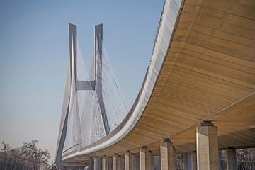Most Rędziński nad Odrą we Wrocławiu, Polska