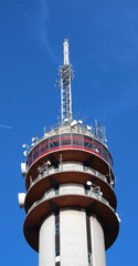 communications tower  in the Beatrixkwartier in Den Haag in the Netherlands