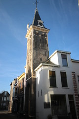 Saint barbarakapel and barbarakerk chapel and churc at the Kuiperstraat in Gouda