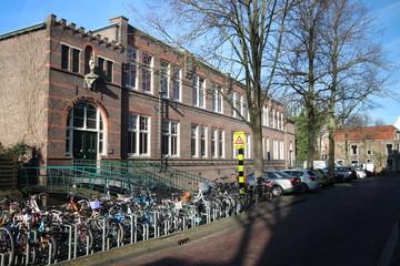 Saint aloysius primary school at the spieringstraat in old town of Gouda