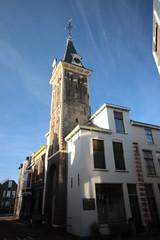 Saint barbarakapel and barbarakerk chapel and churc at the Kuiperstraat in Gouda