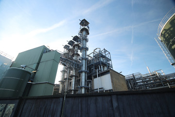 Chemical factory in Gouda which produces  base stearine, waxes and emulsifiers for the Candles & Waxes in the Netherlands