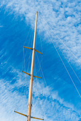 mast of a boat